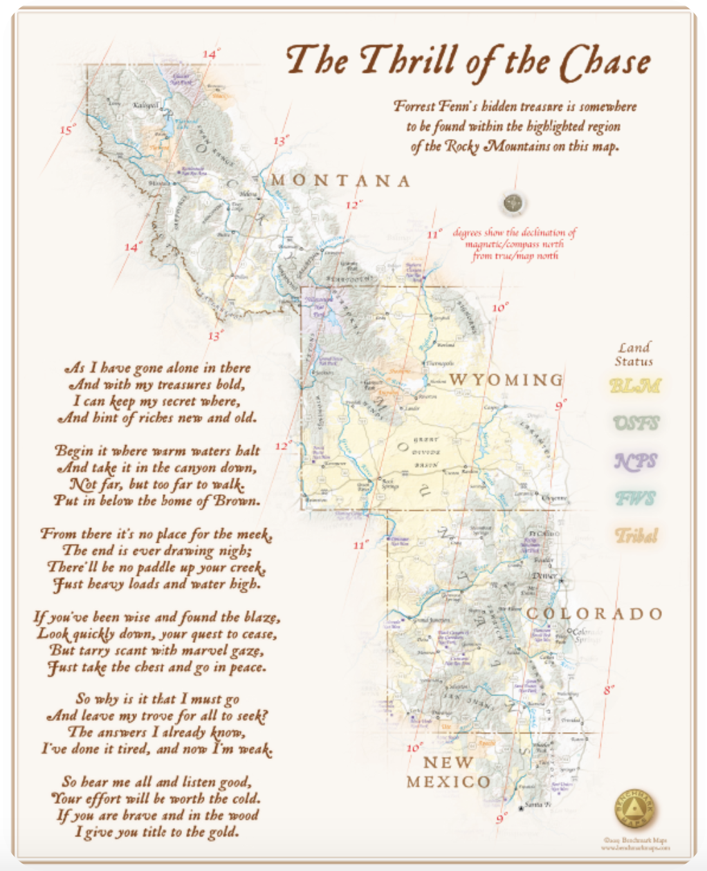 """The Thrill of the Chase"" map and poem"