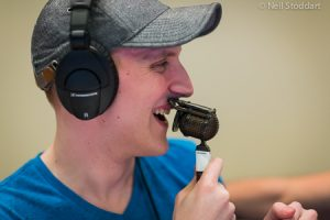 Jason Somerville with a microphone ready to commentate