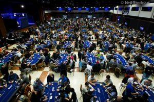 The tournament room at EPT Prague